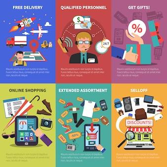 Boutique en ligne mini posters set