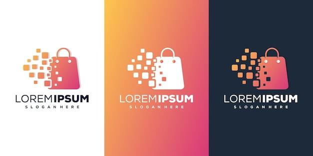 Boutique avec un logo numérique moderne