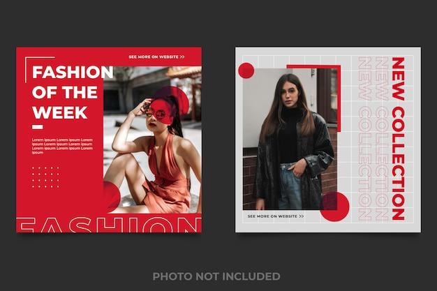 Boutique de mode de modèles de publications sur les médias sociaux
