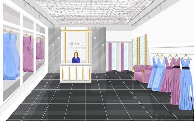 Boutique de mode avec des robes
