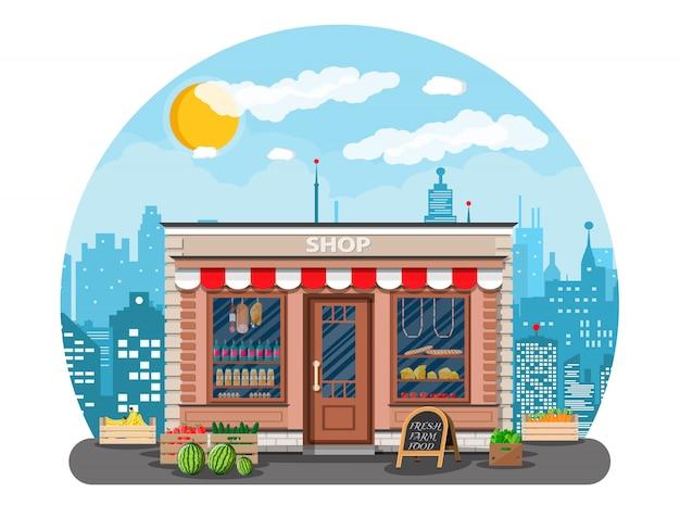Boutique de produits quotidiens en ville