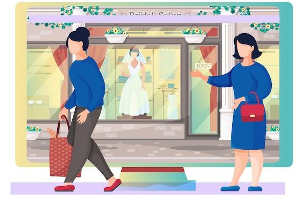 Boutique de robe de mariée et femme mariée