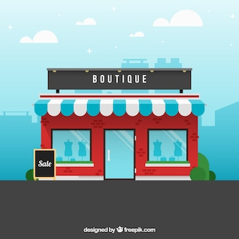 Une boutique, vue extérieure