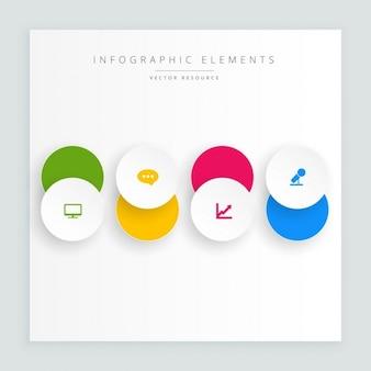 Bouton cercles avec l'icône infograph