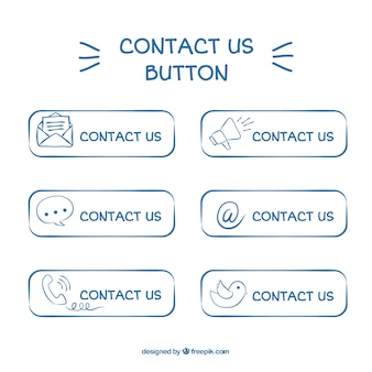 Bouton de contact pack hand-drawn