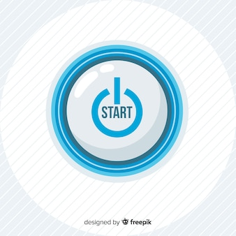 Bouton de démarrage bleu