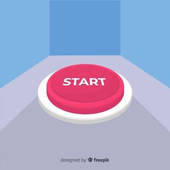 Bouton de démarrage plat rouge