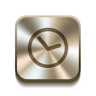 Bouton icône horloge illustration vectorielle