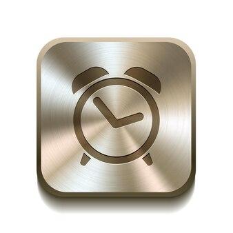 Bouton icône réveil illustration vectorielle
