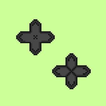 Bouton de jeu avec style pixel art