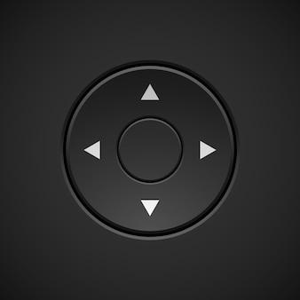 Bouton de joystick abstrait noir