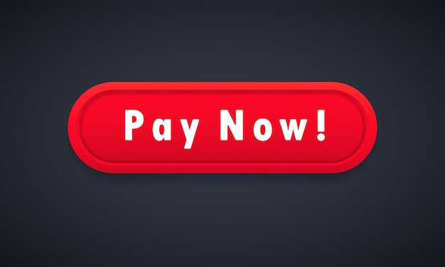 Bouton payer maintenant. concept de commerce électronique. paiement en ligne. vecteur sur fond isolé. eps 10.