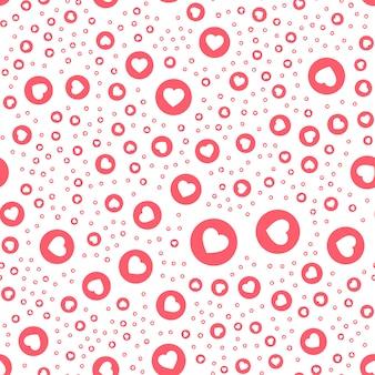 Bouton rose coeur en cercle bouton pour exprimer un emoji social