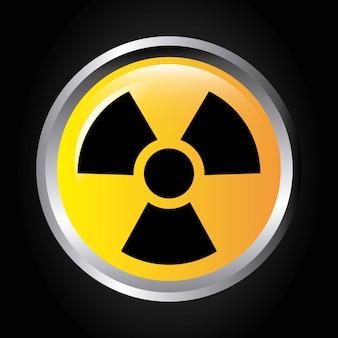 Bouton de signal atomique design d'icône isolé
