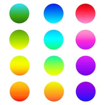 Bouton de sphère dégradé holographique arrondi.