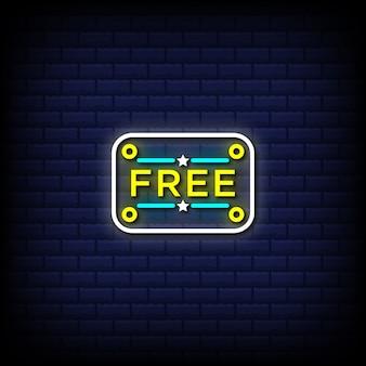 Bouton de texte de style néon gratuit