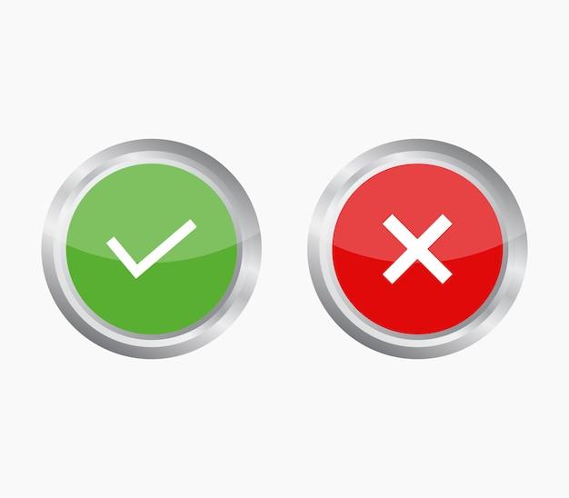 Bouton de vérification et d'erreur