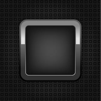 Bouton web chrome, texture plastique, bouton vide