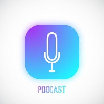 Bouton web podcast dans le style neumorphisme