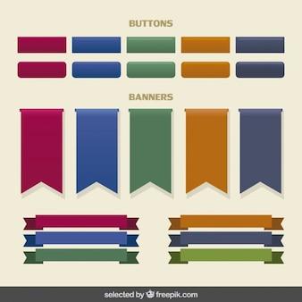 Boutons et bannières collection
