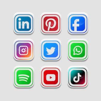 Boutons de collecte de médias sociaux