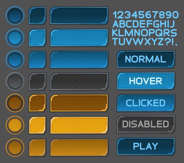 Boutons d'interface définis pour les jeux ou applications spatiales