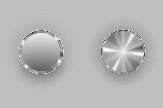 Boutons en métal. illustration