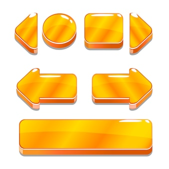Boutons d'or de dessin animé pour le jeu