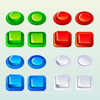 Boutons poussoirs pour un jeu ou un élément de conception web