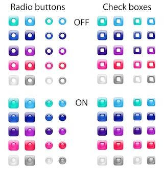 Boutons radio et cases à cocher