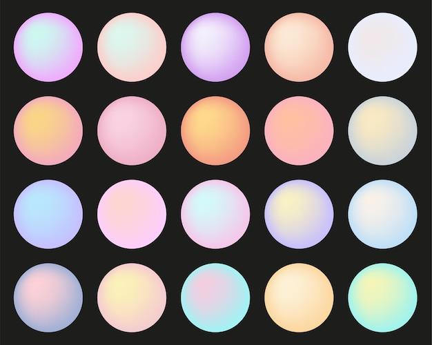Boutons ronds multicolores doux pastel isolés