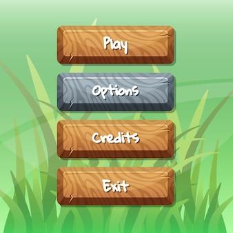 Boutons avec texte pour jeux