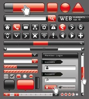 Boutons vierges pour site web et applications.