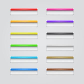 Boutons web colorés