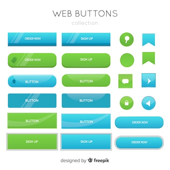 Boutons web en dégradé