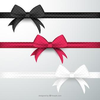Bows en différentes couleurs