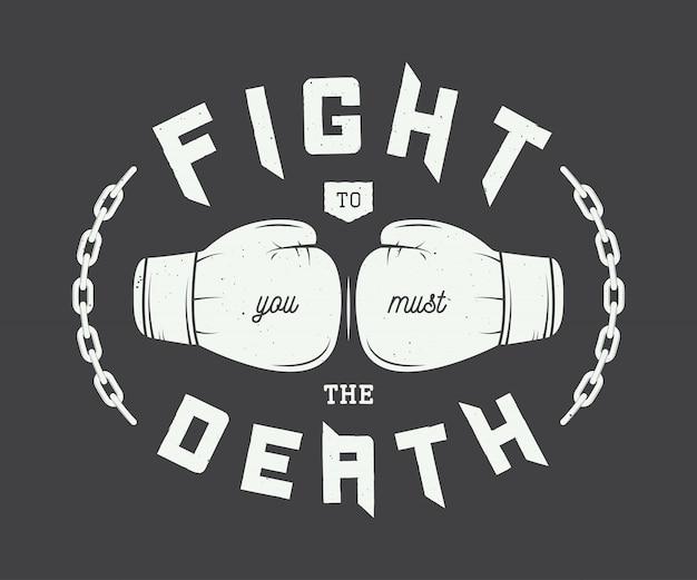 Boxe, logo d'arts martiaux mixtes