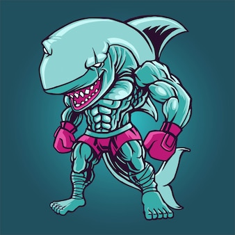 Boxe requin combattant
