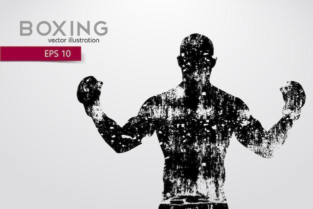 Boxe, silhouette d'un boxeur