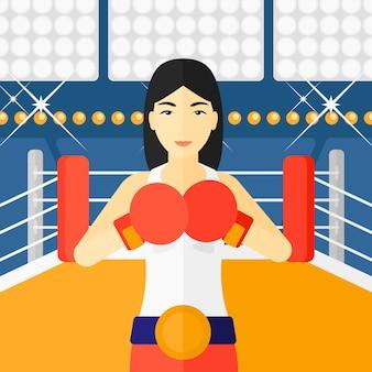 Boxeur confiant dans les gants