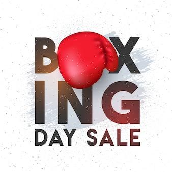 Boxing day, bannière de vente, affiche ou flyer design.