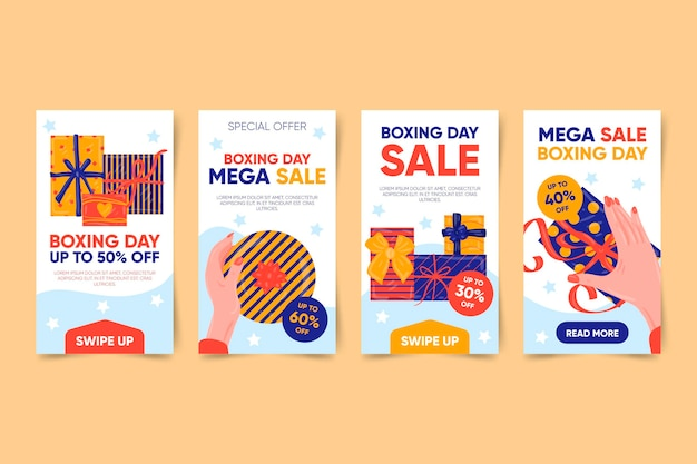 Boxing day sale instagram stories