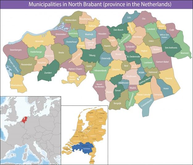 Brabant du nord est une province des pays-bas