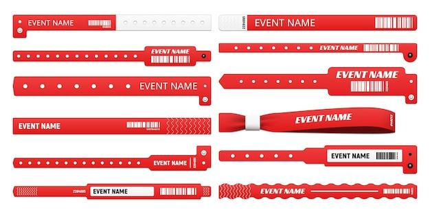 Bracelet d'événement maquettes réalistes de bracelets d'accès isolés