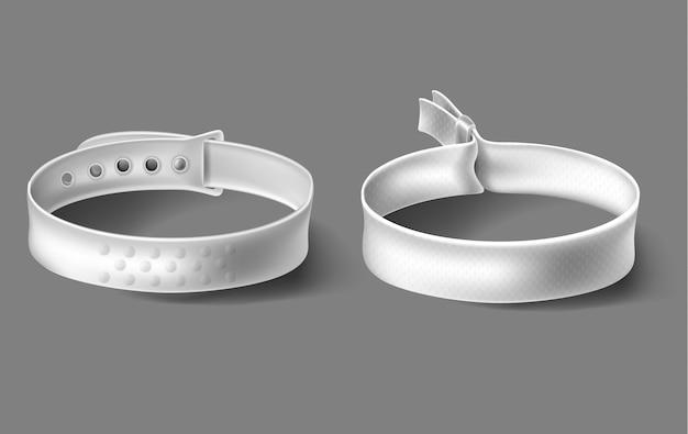 Bracelets blancs fête festival