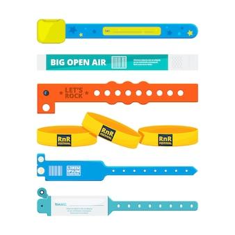 Bracelets d'entrée pour concerts publics ou hôtel, stade, zone privée