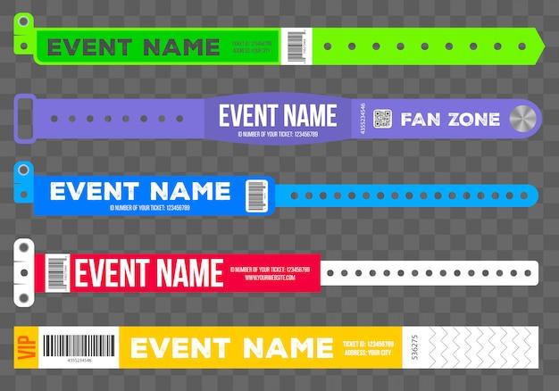 Bracelets pour l'entrée à l'événement