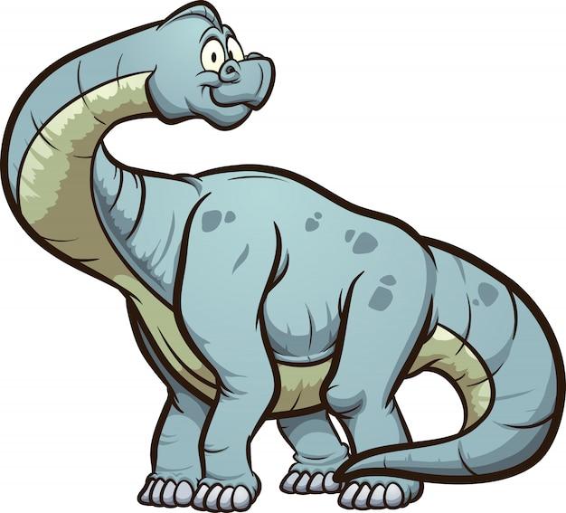 Brachiosaure de dessin animé