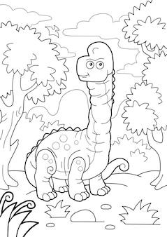 Brachiosaure De Dinosaure Vecteur Premium
