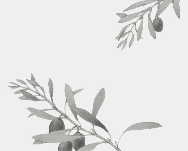 Branche d'olive sur une carte de noël